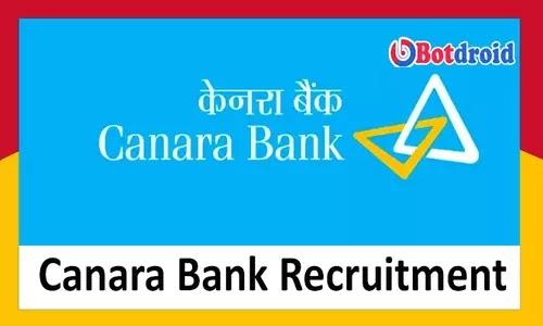 Canara Bank Recruitment 2021, Apply for Canara bank careers