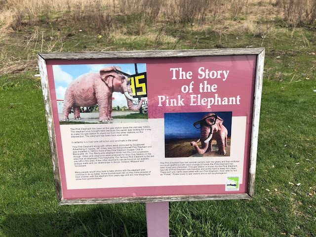 The Story of the Pink Elephant at the Shell gas station in DeForest, Wisconsin