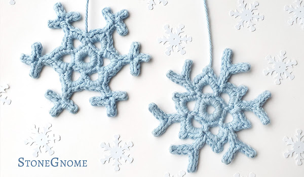 TWO crocheted snowflakes - free pattern