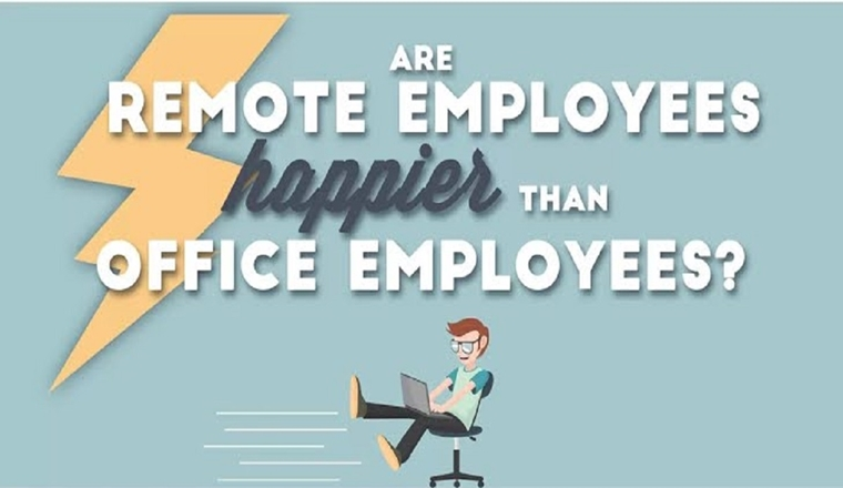 Are Remote Workers Happier Than Office Employees? #infographic