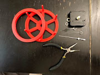 Install the clock mechanism to the body of the Clock Wheel