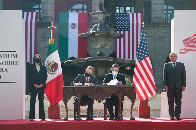 Presidente dialoga sobre migración con vicepresidenta de Estados Unidos, Kamala Harris