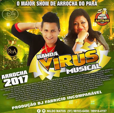 CD ARROCHA 2017 BANDA VIRUS MUSICAL E NILDO MATOS