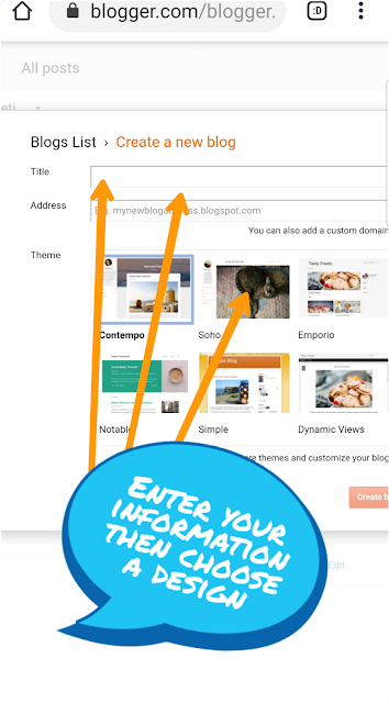 Start a blog with Blogger and Blogspot