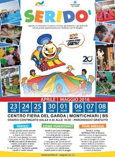 Seridò 2016 la grande festa dei bambini   dal 23 aprile all'8 maggio Montichiari (BS)