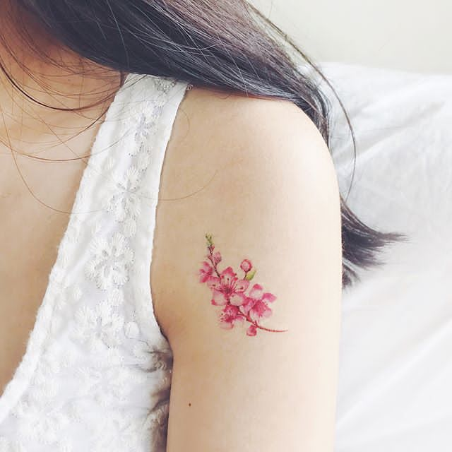 sprig of lavender tattoo