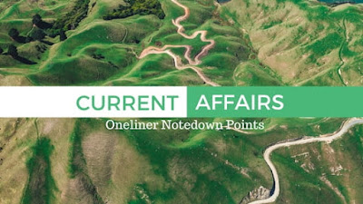 Current Affairs One Liners - 6th December 2017