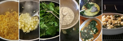 Zubereitung Gratin mit Spargel und Spinat auf Hirse-Linsen