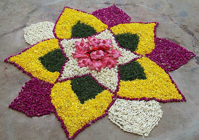 Rangoli Flower Designs For Deepawali Images