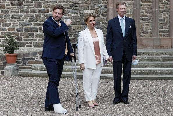 Grand Duke Henri and Duchess Maria Teresa, Hereditary Grand Duke Guillaume and Hereditary Grand Duchess Stephanie, Prince Felix, Princess Claire