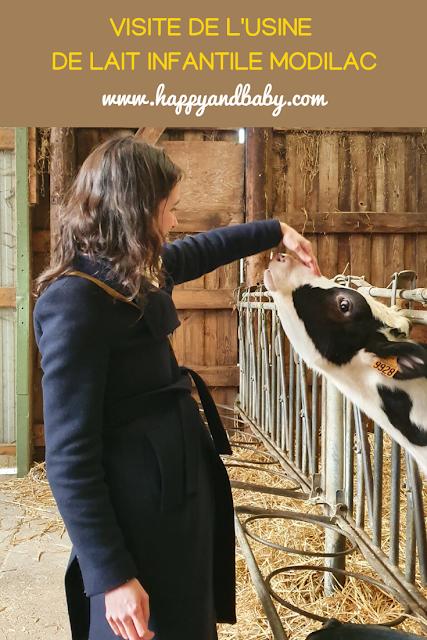 Visite de l'usine de fabrication de Modilac, lait infantile
