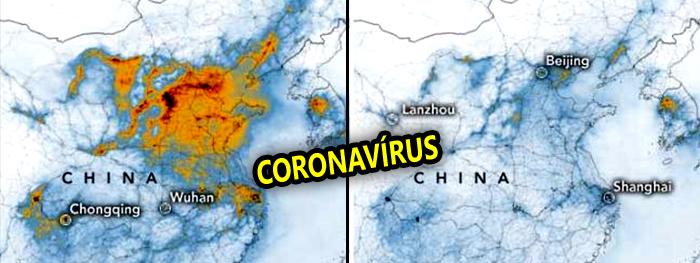 efeito coronavirus visto do espaço