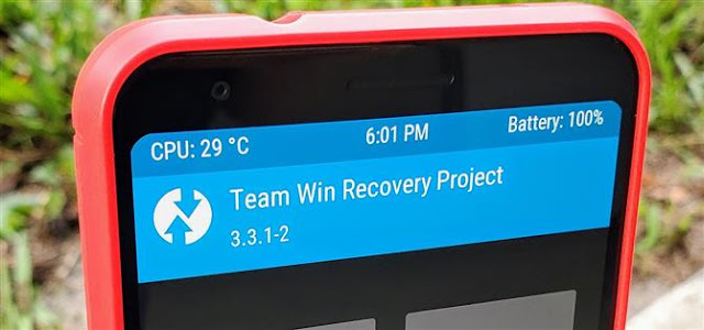 Install TWRP Recovery Pixel 3a
