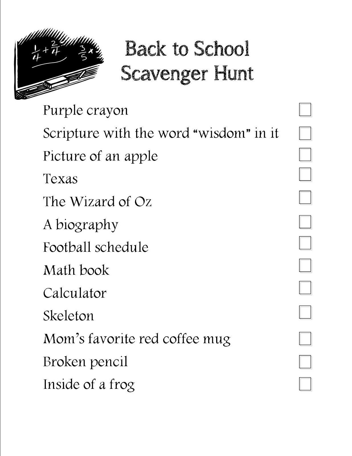 The Potter S Hand Back To School Scavenger Hunt
