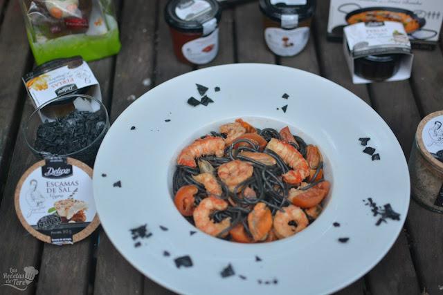 Espaguetis negros de sepia con langostinos y mejillones las recetas de tere 03