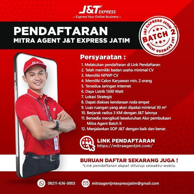 syarat mitra jnt express Jawa Timur
