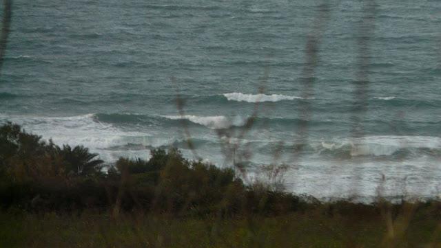 La playa de Sopelana con mal tiempo