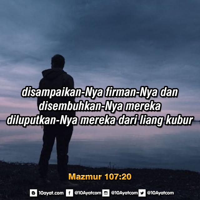 Mazmur 107:20