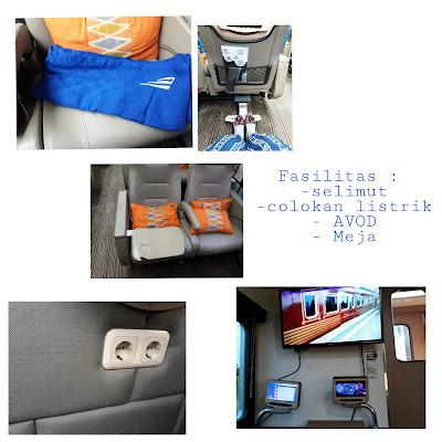Fasilitas yang ada di kereta api wisata priority