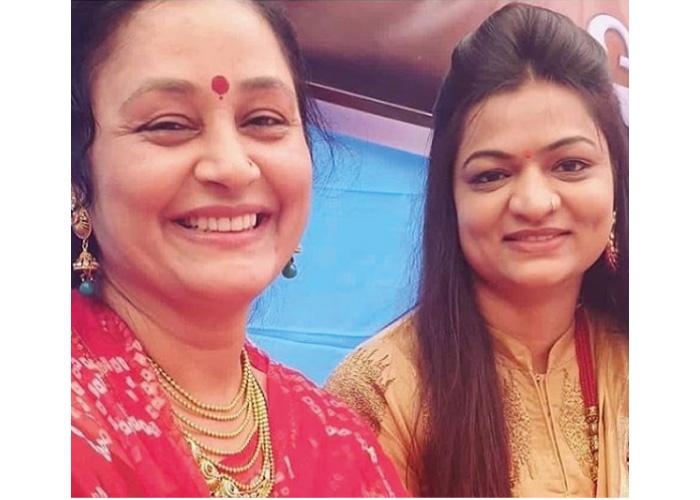 Alpa Patel with lalita ghodadra