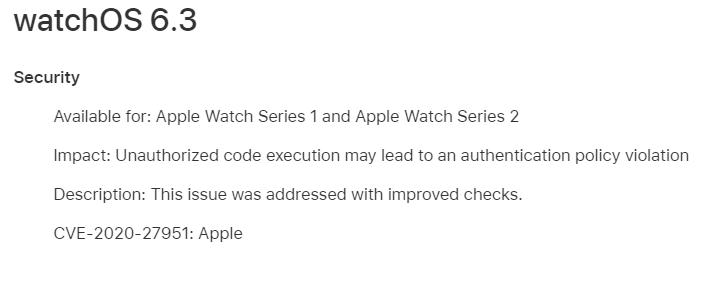 watchOS 6.3 Features