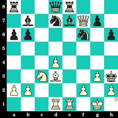 Les Blancs jouent et matent en 2 coups - Mittal Aditya vs Mamikon Gharibyan, Internet, 2020