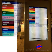Illuminated map of subway lines showing colour in London Underground