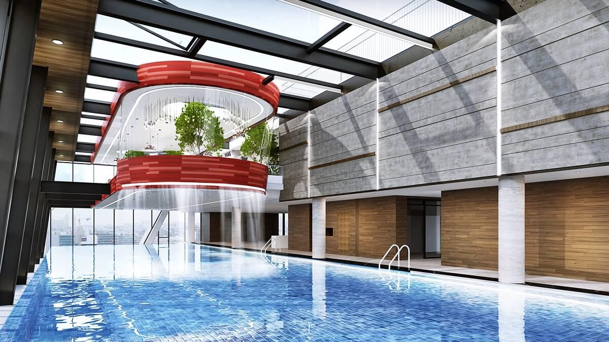 Bể bơi đẳng cấp của dự án Grandeur Palace
