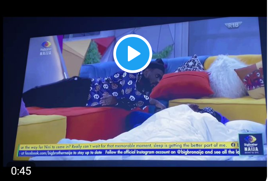 BBNaija: Watch the moment Pere tells Saga that Nini is back in the house (video)