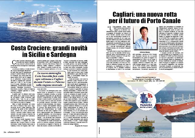 OTTOBRE 2019 PAG. 26 - Costa Crociere: grandi novità in Sicilia e Sardegna