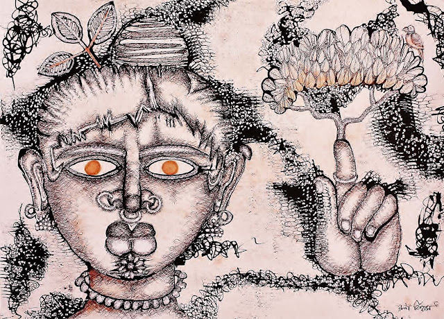 Aranyani(Forest Goddess)-Runa Biswas-MyCreativeDay-HuesnShades
