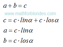 Decomposition of the sum on items. Mathematics For Blondes.