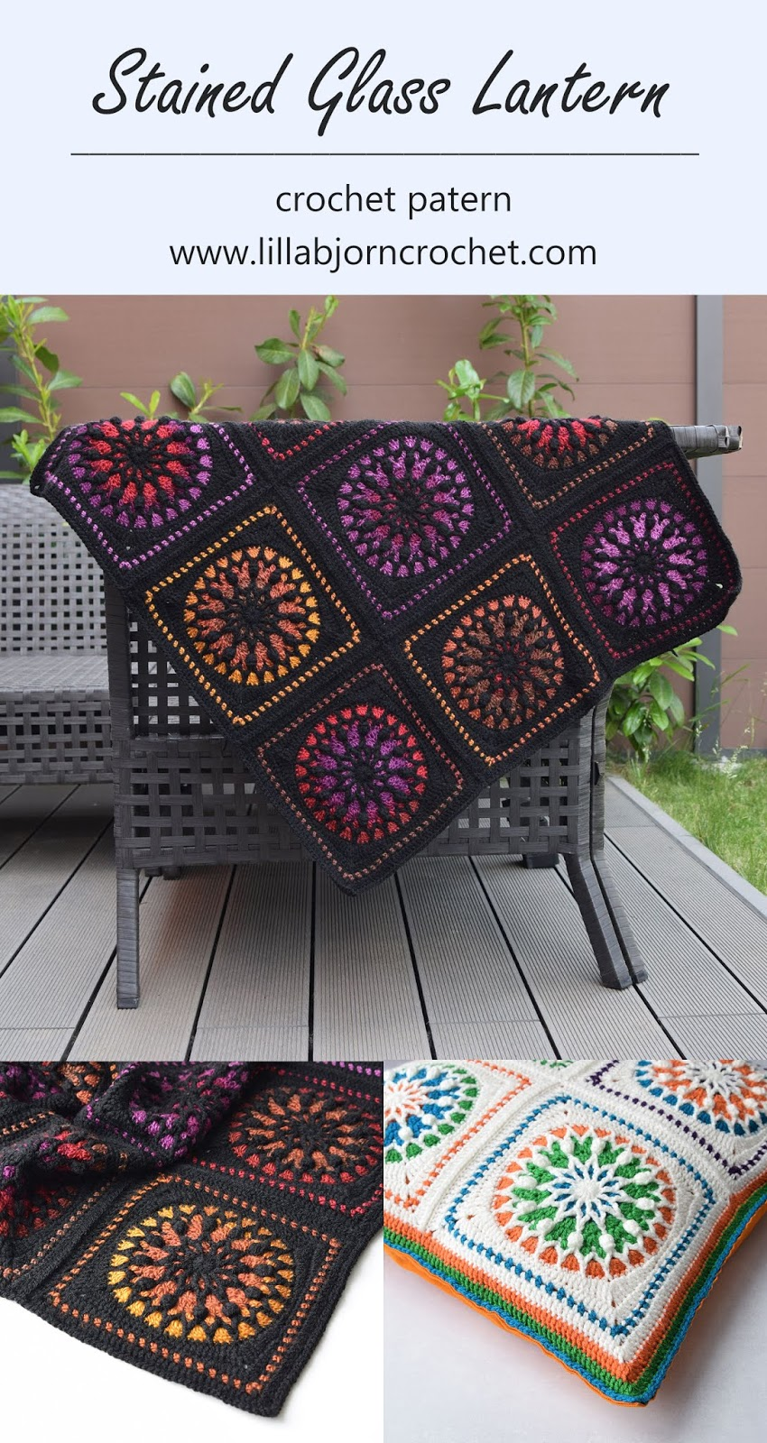 Stained Glass Lantern New Crochet Square Pattern Lillabjrns