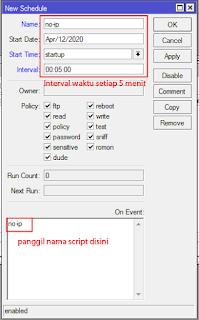 Menjalankan Script dengan Schedule