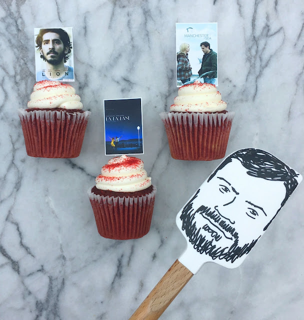 Fun Food Ideas for an Academy Awards Party in front of the TV - Printable Best Picture Nominee Cupcake Toppers - www.jacolynmurphy.com
