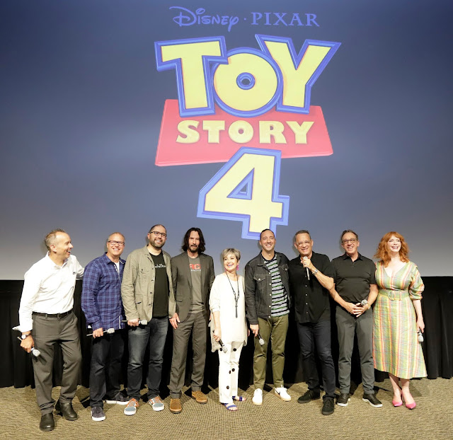 Toy Story 4 press event as the filmmakers and vocal cast surprise guests