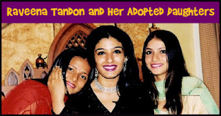 raveena tandon with her kids, raveena with adopted girls
