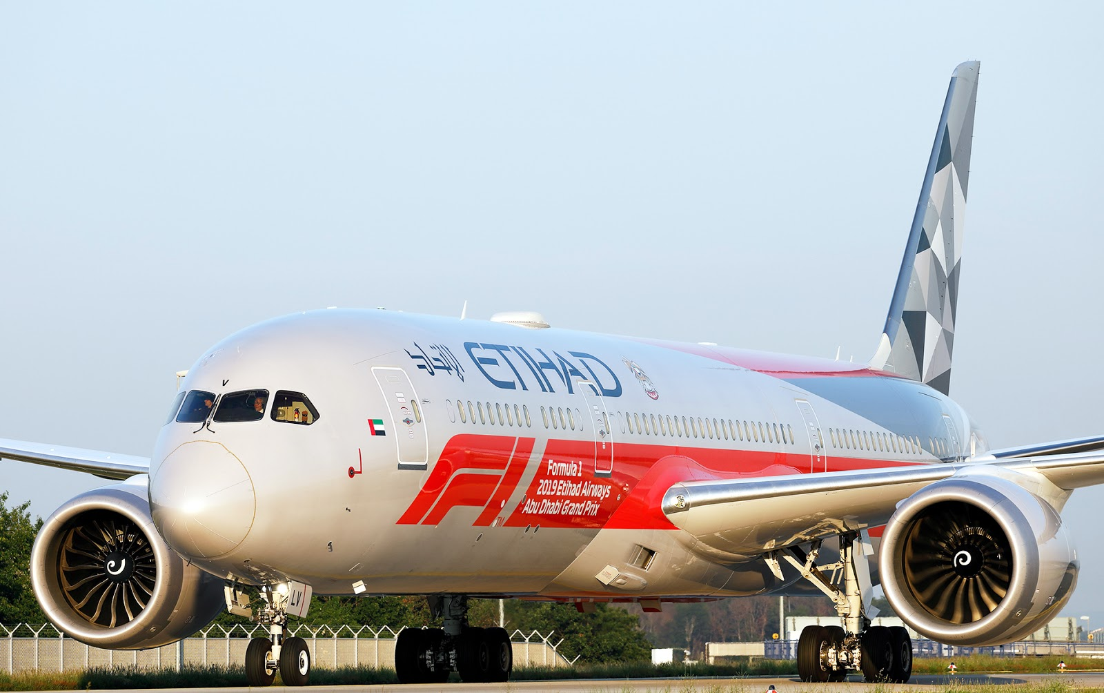 Etihad Boeing 787-9 Dreamliner F1 Special Livery