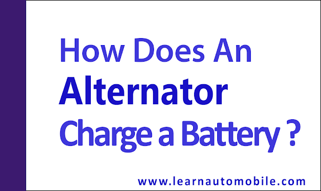 How does an alternator charge a battery
