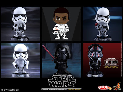 Star Wars: The Force Awakens Cosbaby Series 1 Vinyl Figure Bobble Heads by Hot Toys
