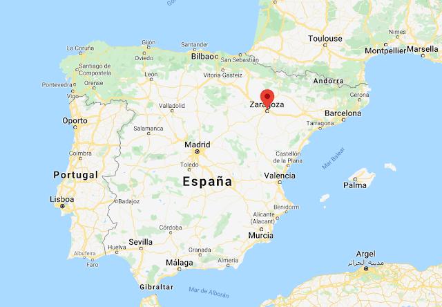 localización de Zaragoza en España