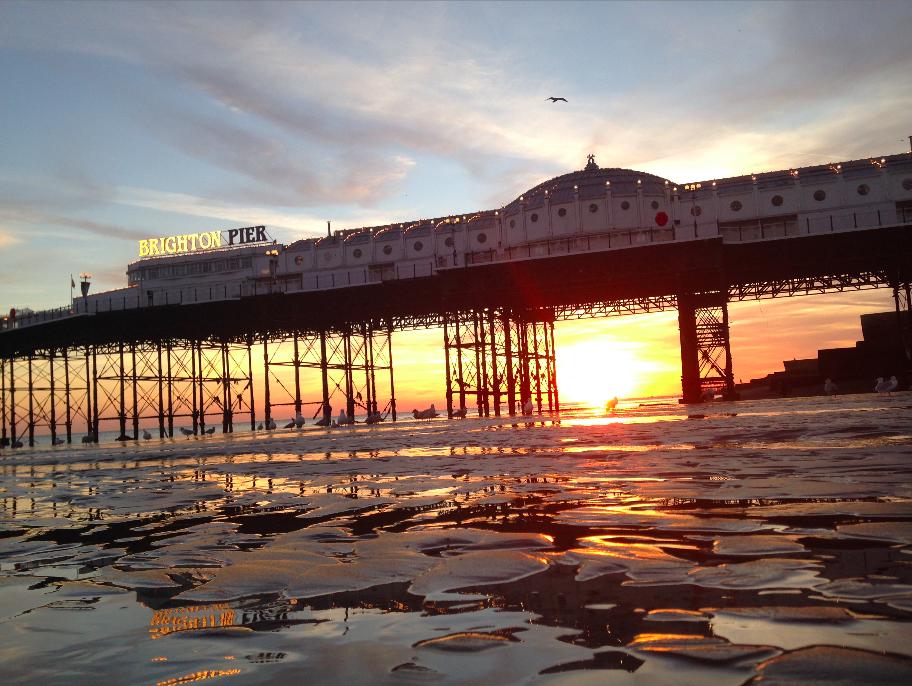 FitBits   Brighton beach sunset   copyright Tess Agnew