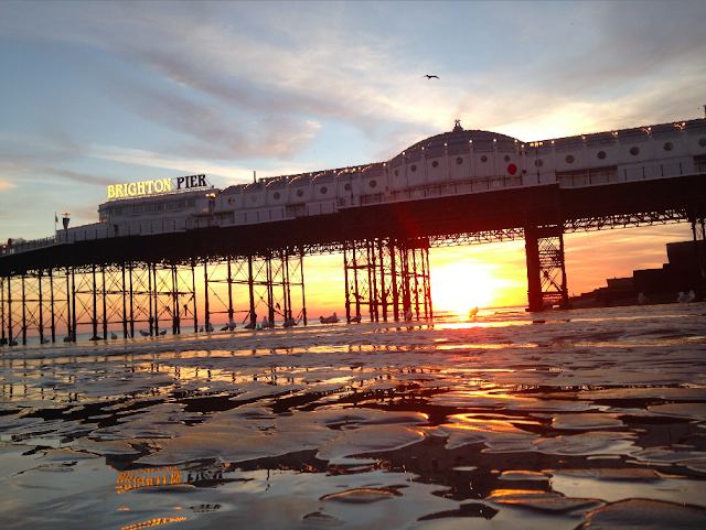 FitBits | Brighton beach sunset | copyright Tess Agnew