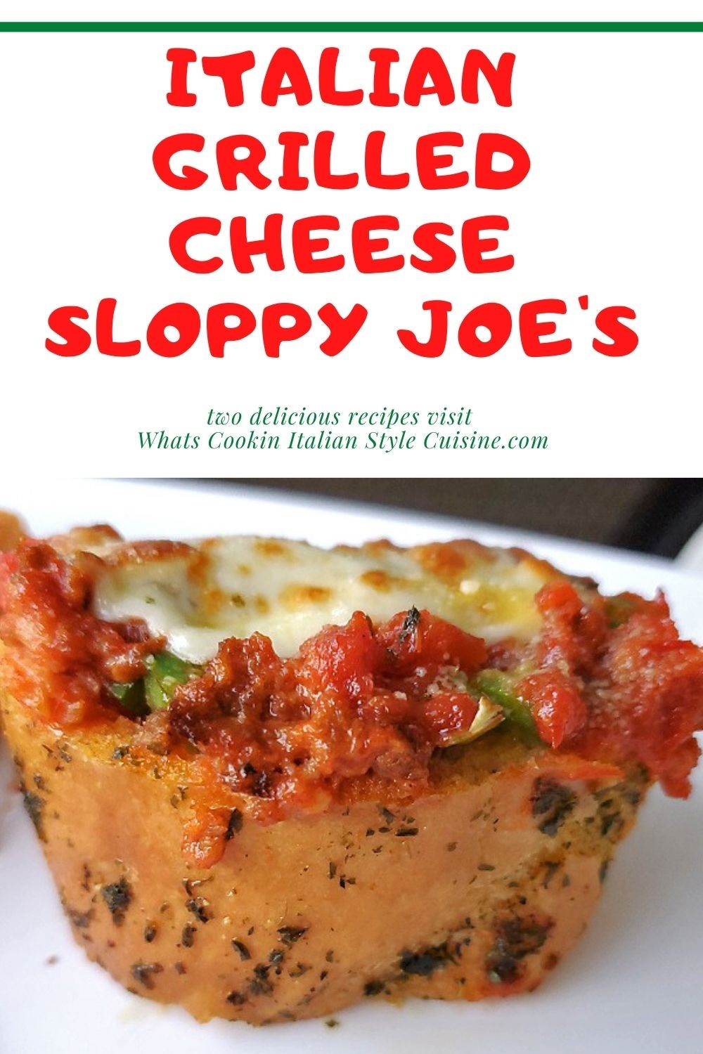 this is a pin for later how to make Italian style sloppy joe's