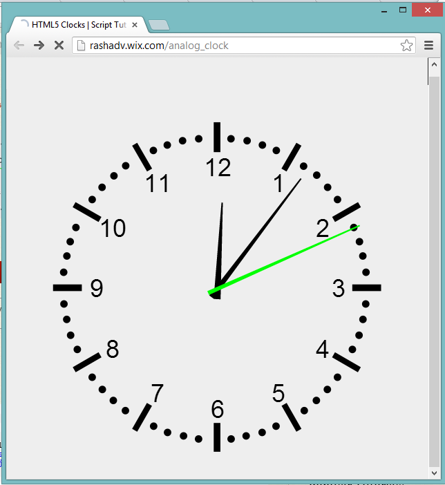 Coder's Blog: Analog Clock Using JavaScript