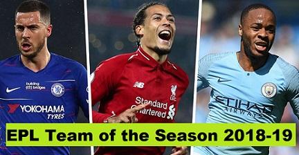 Salah, Hazard, Van Dijk & Sterling in the Premier League Team of the Season 2018-19