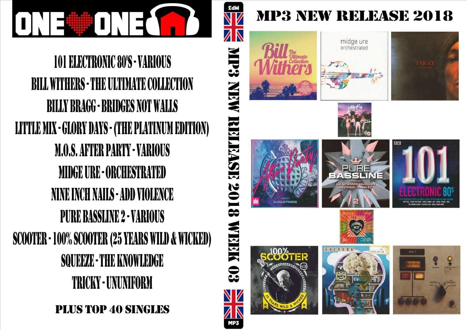 Music Riders Various Artists: MP3 NEW RELEASES 2018 WEEK 03