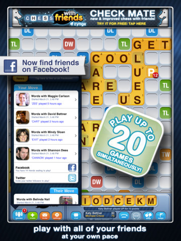 download iphone ipad game words with friends hd i love game. Black Bedroom Furniture Sets. Home Design Ideas
