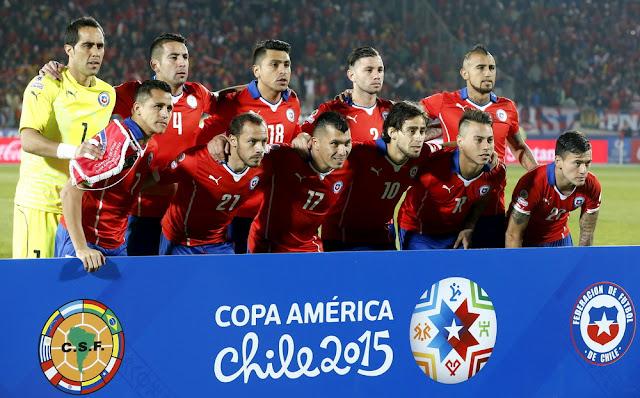 Formación de Chile ante Uruguay, Copa América 2015, 24 de junio
