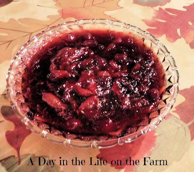 Grape and Cranberry Sauce